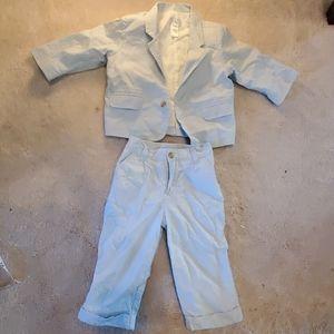 The children's plays blue striped 2 piece suit
